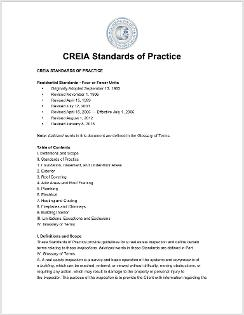 CREIA Standards of Practice, home inspection, property inspector, home inspection certification